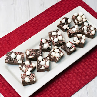 Peppermint Marshmallow Pudding Fudge