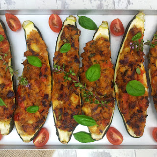 Goat Cheese Stuffed Courgettes [vegetarian]