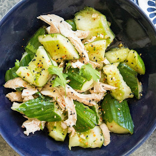 Chinese Smashed Cucumber Chicken Salad.