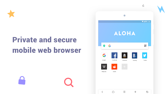 Aloha Browser Lite - Private browser and free VPN Screenshot
