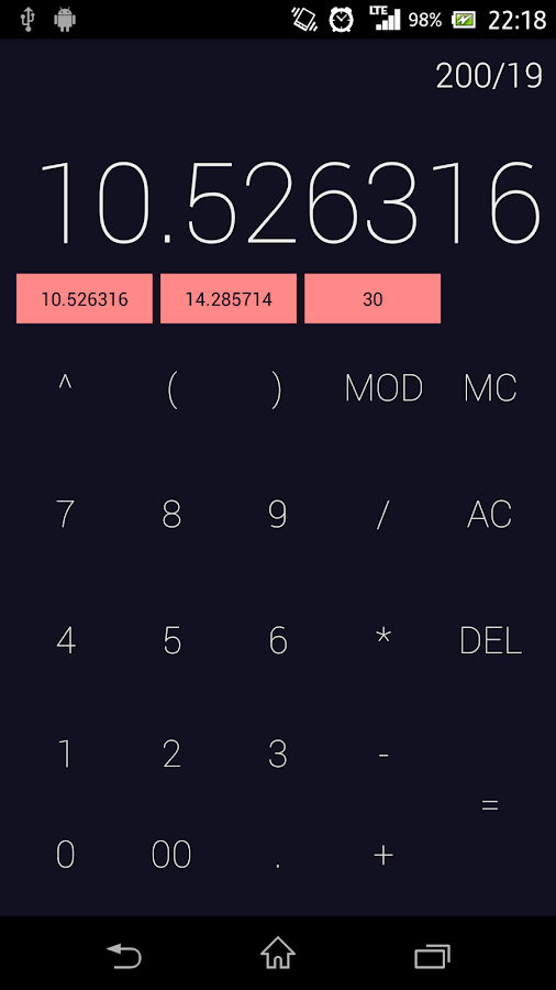 MemoCalc- screenshot