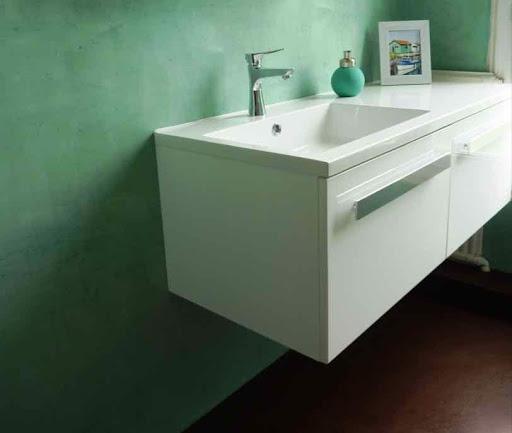 salle de bain en beton cire