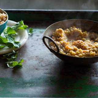 Vegetable Curry With Caramelised Rice (dhan Saak Daal).