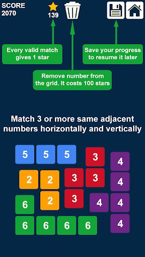 déposer et fusionner des nombres: bloc puzzle APK MOD – Pièces Illimitées (Astuce) screenshots hack proof 2