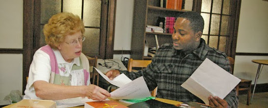 Photo: Sr. Christine and Jose Periez, baptized in Cape Verde, meet for instructions in St. Patrick Convent in Boston.