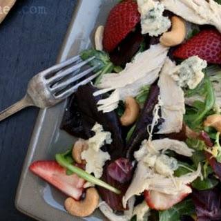 Chicken, Strawberry, & Tarragon Salad w/ Cashews & Cashel Blue
