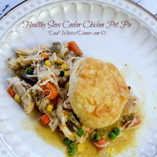 Healthy Slow Cooker Chicken Pot Pie.