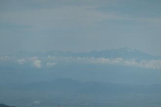 乗鞍岳と北アルプス(左端に槍ヶ岳)