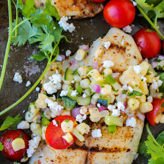 Grilled Tilapia with Corn Salsa.