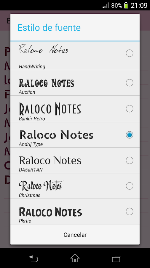 Raloco Notes- screenshot