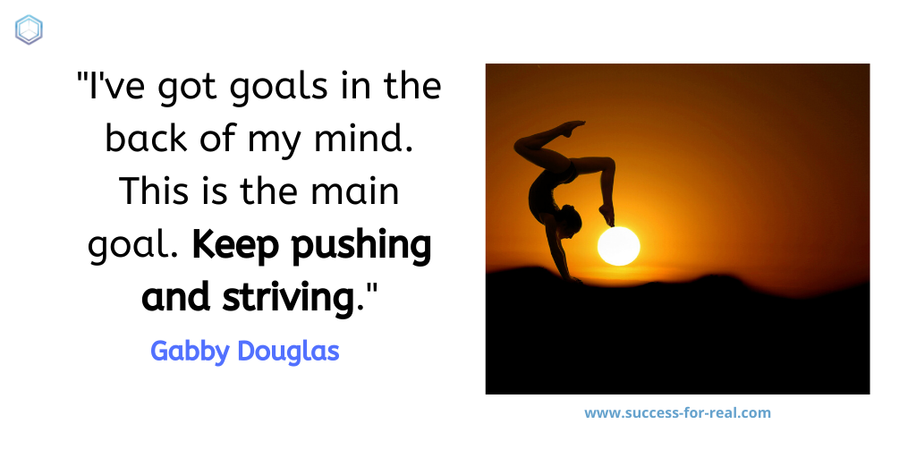 365 Success Quotes For Motivation - Picture Quote By Gabby Douglas