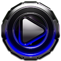 Poweramp skin Blue Glow icon