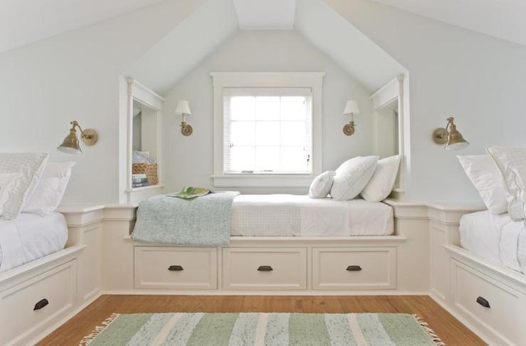 Storage Bed Frame in Attic Bedroom