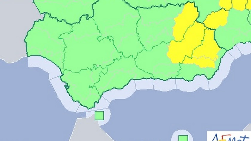Mapa de alertas en la provincia para hoy.