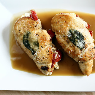 Stuffed Chicken Breasts with Chicken Demi-Glace.