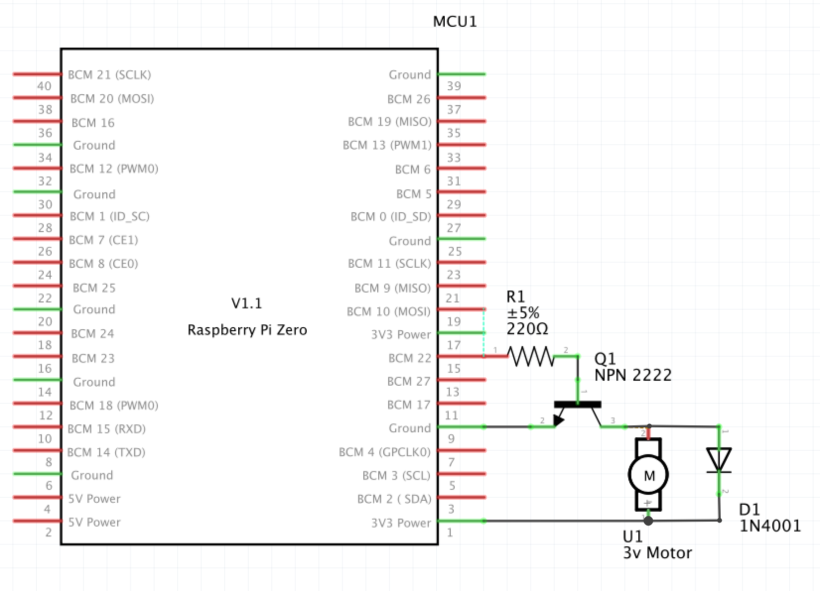 Open Trickler motor control schematic.