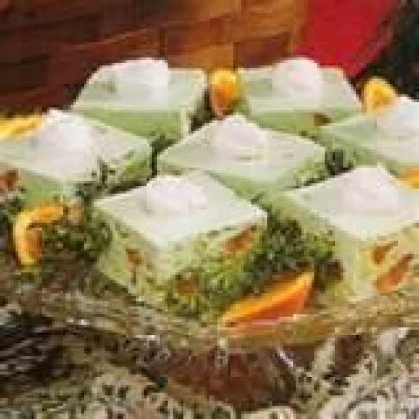 Lime Mandarin Orange Salad W/ Candied Orange Slice