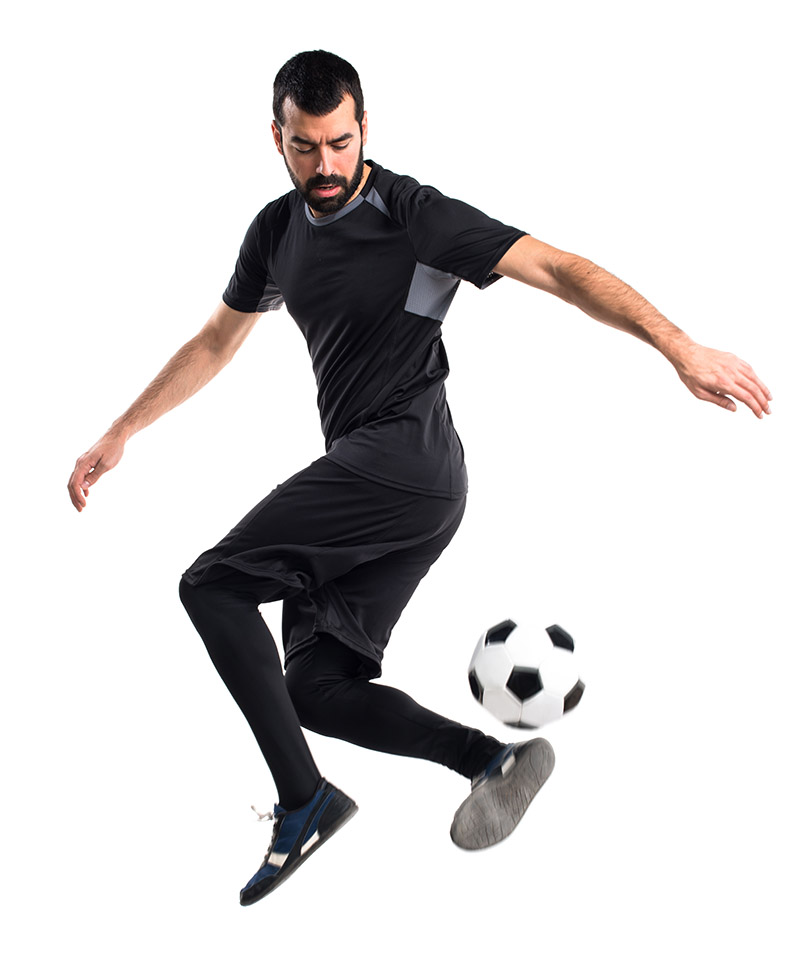 Juggle a soccer ball - heel flick