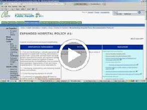 Video: Part 5: Hospital Policies and State Resources