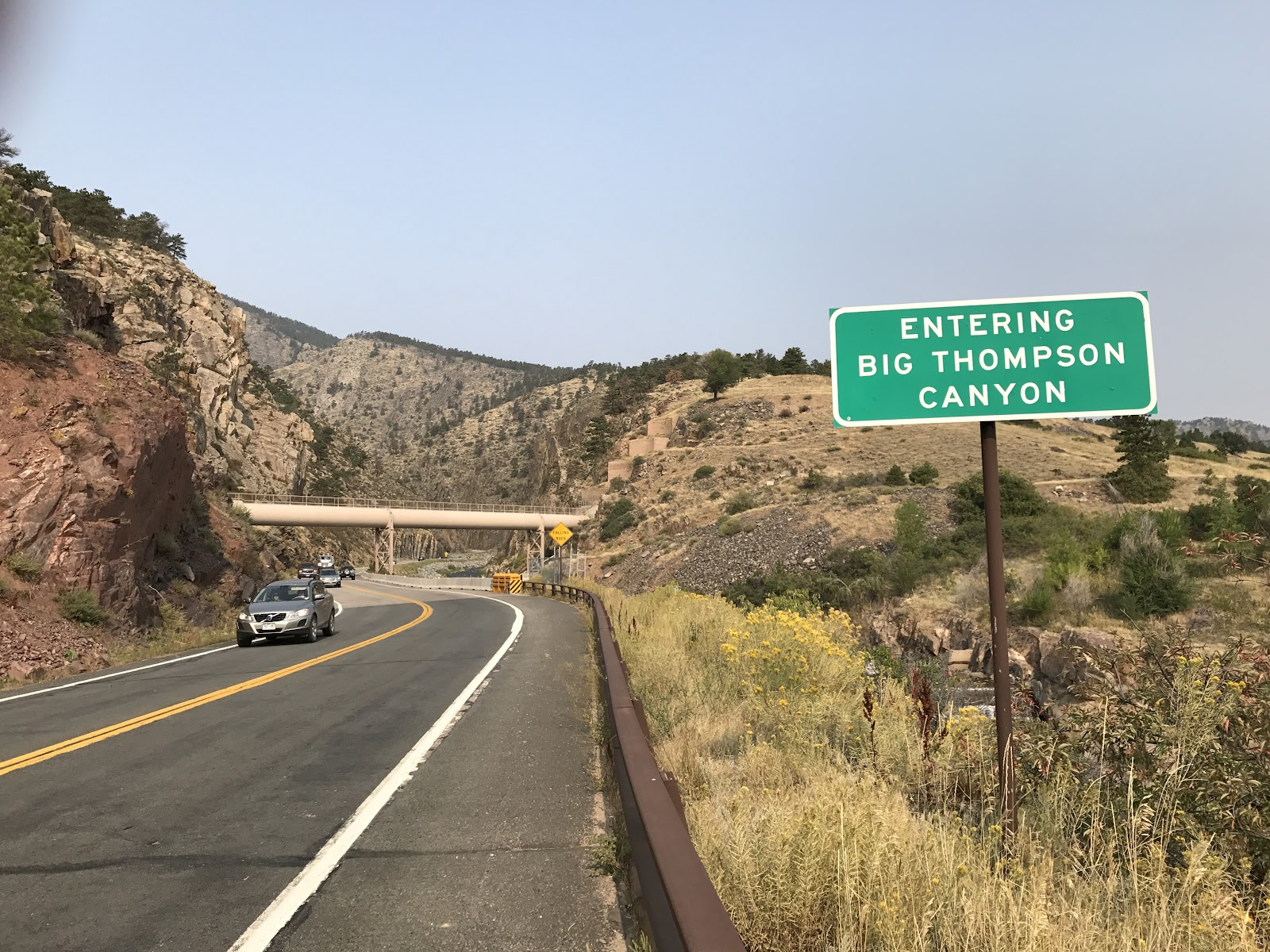 Beginning of Trail Ridge bicycle climb - Dam Store Hwy 34, Loveland  Colorado