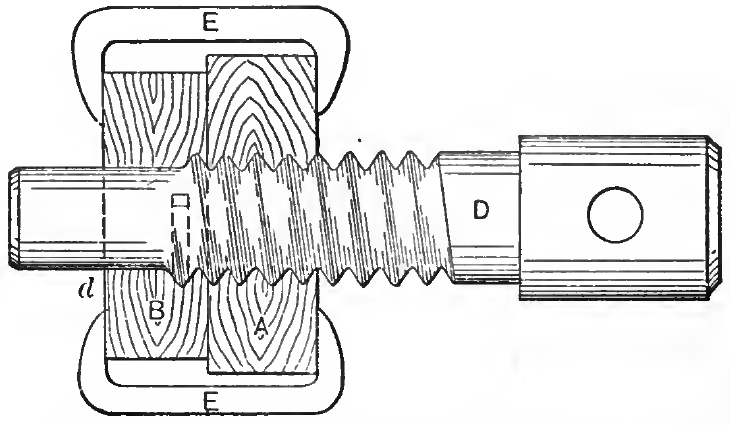 Screw Threading or Tapping Device for Wood