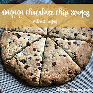 Paleo & Vegan Banana Chocolate Chip Scones