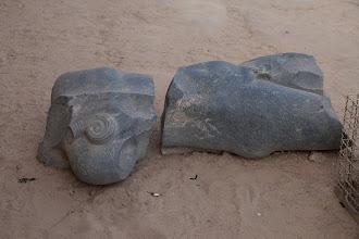 Photo: Dendara, Basalt statue
