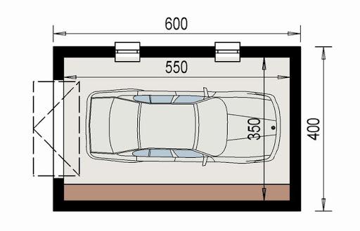 AD-G1.3a - Rzut garażu