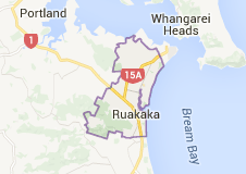 Map of ruakaka