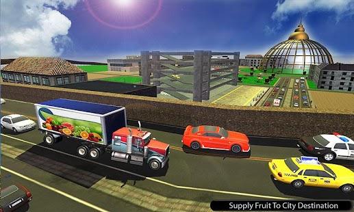 Offroad Fruit Transporter Truck: Driving Simulator - náhled