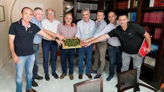 Los promotores de esta nueva alianza empresarial en el campo almeriense.
