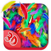3D Feather Fall Live Wallpaper