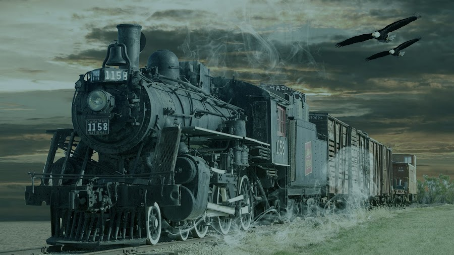 the mighty train by Haris Fallin - Transportation Trains ( sky, land, rail, transportation, landscape, photography, classic, trains )