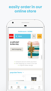 HEMA app - náhled
