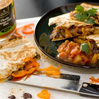 Toasty Bean & Cheese Quesadillas Recipe