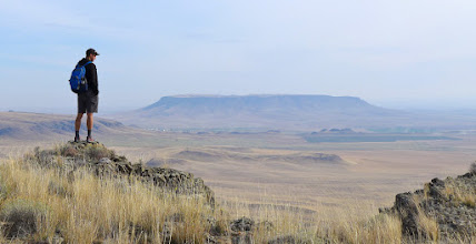 Photo: Andriy with Square Butte in the distance