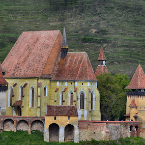 Fortified Church by Marco Bertamé - Buildings & Architecture Places of Worship ( red, church, green, biertan, romania, yellow, fortified, transylvania )