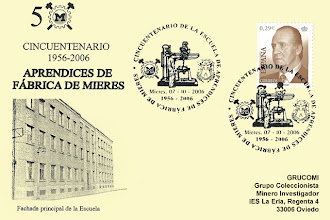 Photo: Matasellos de 50 aniversario de la Escuela de aprendices de Fábrica de Mieres, 2006