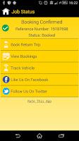 Screenshot of Central Taxis Edinburgh
