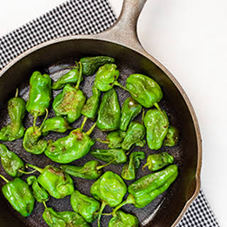 Fried Padrón Peppers.