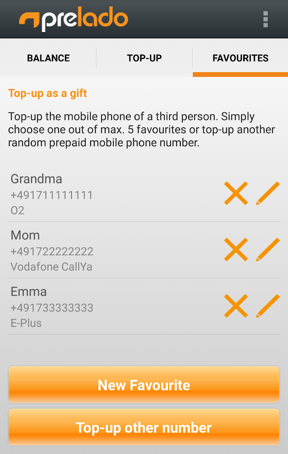 prelado - Mobile Phone Top-up- screenshot