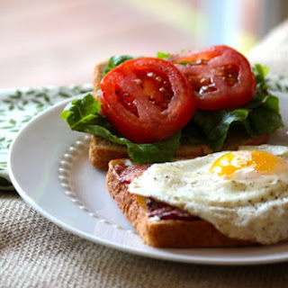 BLT Sandwiches with Sunny Side Up Eggs