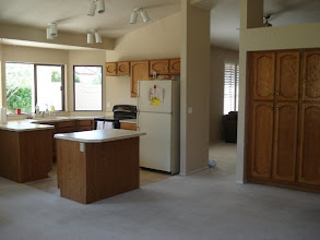Photo: the old kitchen - notice the lack of microwave?