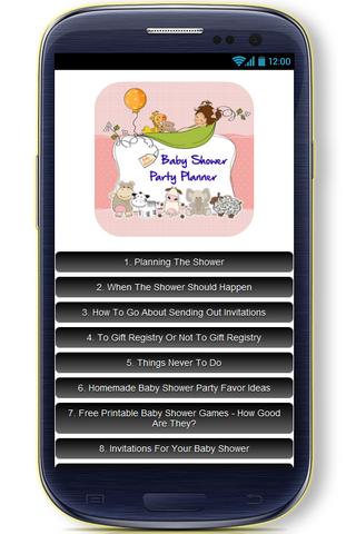 玩免費遊戲APP|下載Baby Shower Party Planner app不用錢|硬是要APP