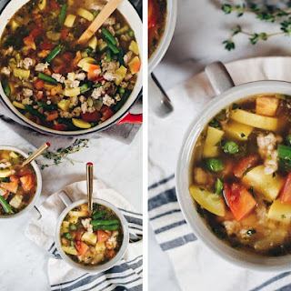 Turkey And Summer Vegetable Soup.