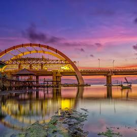 Sunrise at Kenjeran Beach by Raden Bagus Paijo - Buildings & Architecture Bridges & Suspended Structures