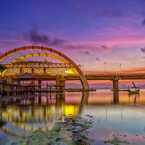 Sunrise at Kenjeran Beach by Raden Bagus Paijo - Buildings & Architecture Bridges & Suspended Structures