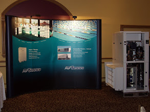 Photo: Seresco, an Ottawa-based company, displayed a sample of their pool dehumidification equipment