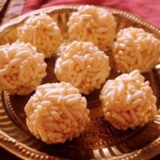 Karthigai Pori Urundai Recipe Or Puffed Rice Balls With Jaggery