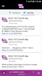 KiSS 100.5 North Bay- screenshot thumbnail